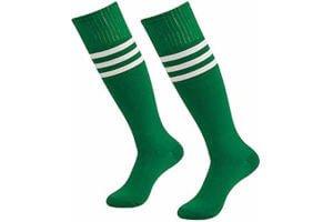 calcetin futbol a rayas verdes