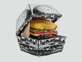 Calcetines de regalo con forma de hamburguesa